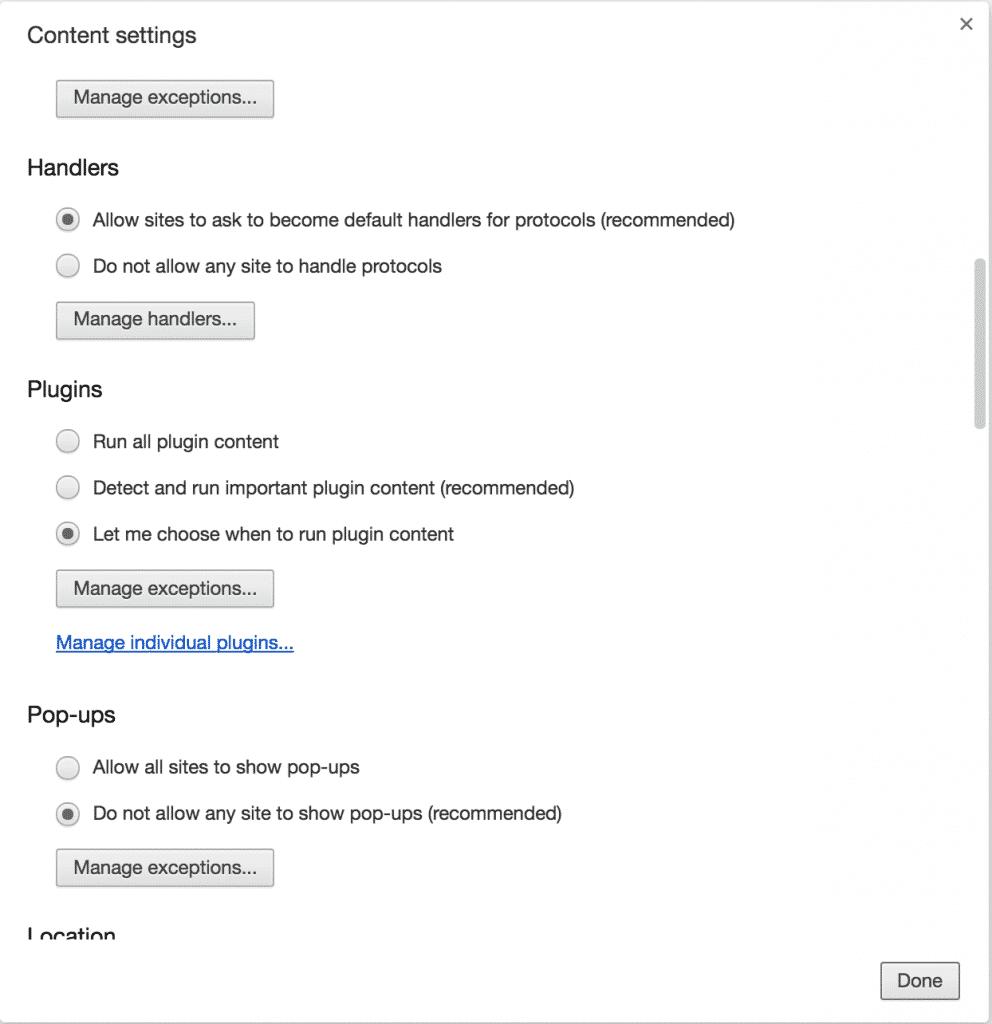 إيقاف تشغيل عرض الفيديو التلقائي