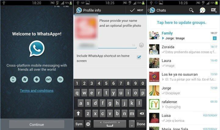 صور تطبيق واتساب بلس