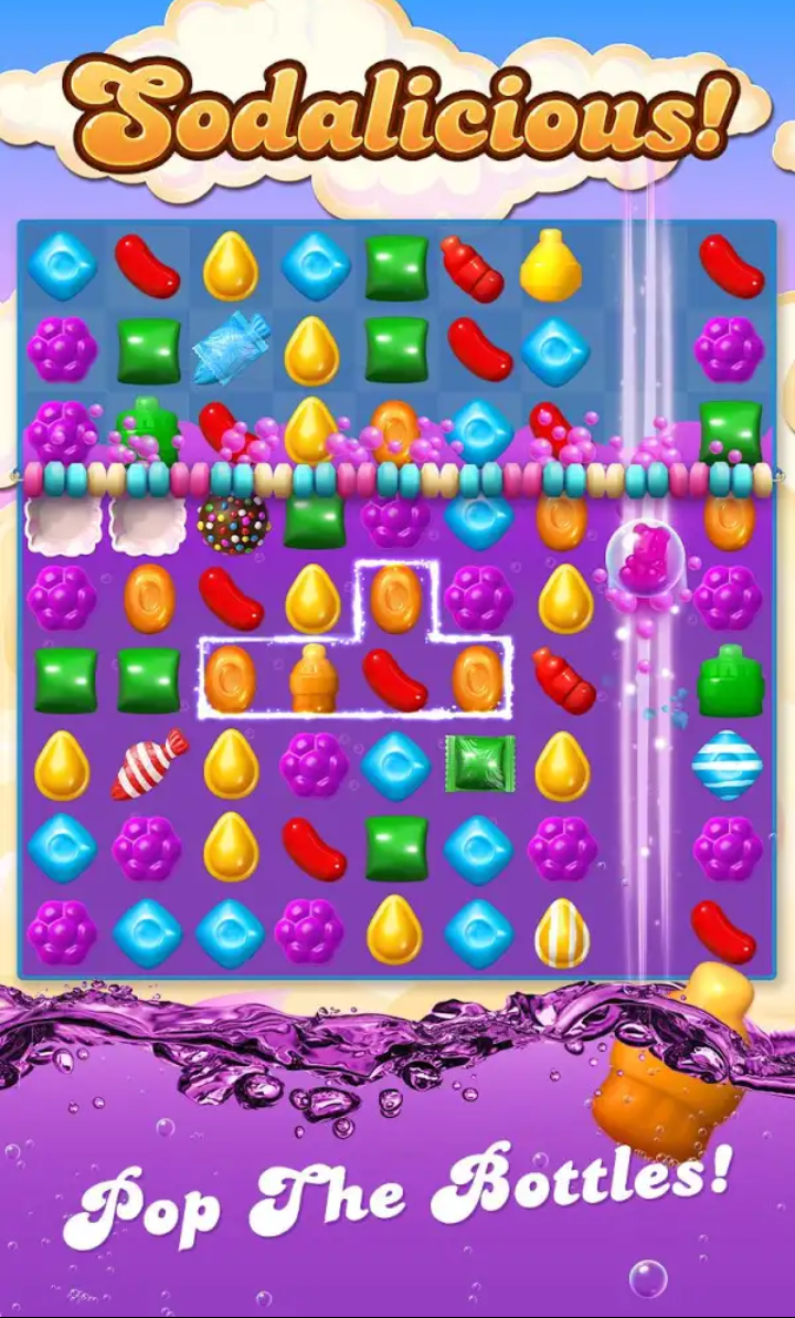 قصة لعبة candy crush soda