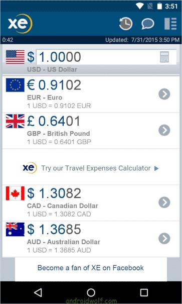 برنامج XE Currency