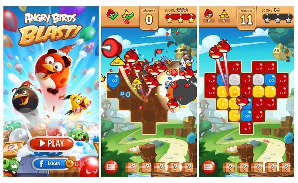 مميزات لعبة Angry Birds Blast