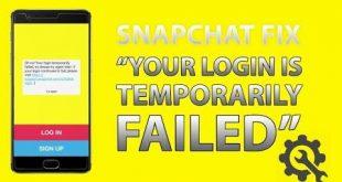 حل مسكلة فشل تسجيل دخول سناب شات و تعليق تطبيق snapchat