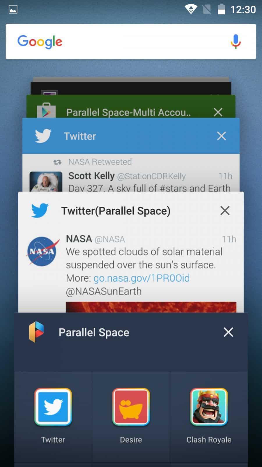 استخدام Parallel Space