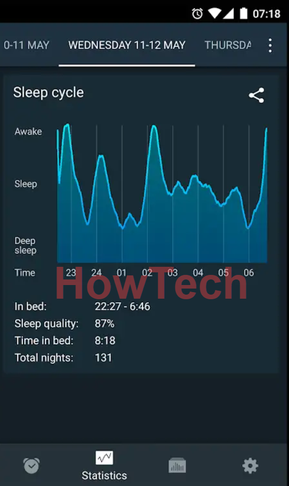 مميزات المنبه الذكي Sleep Cycle