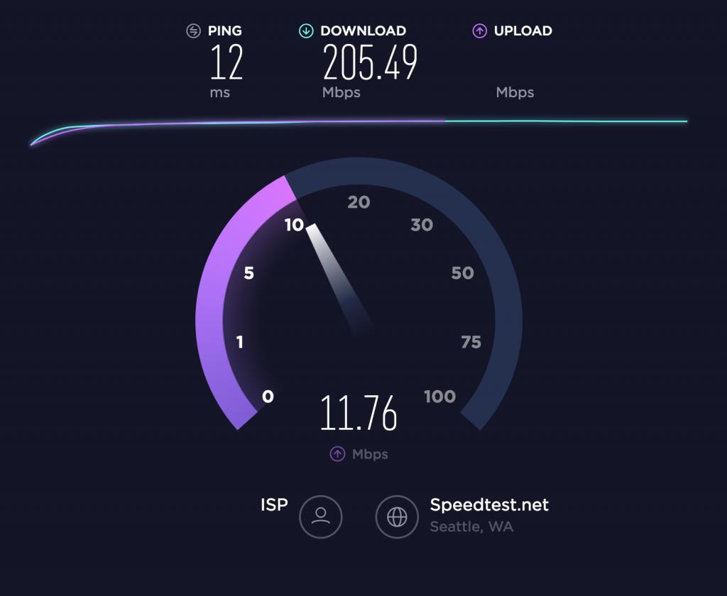 قياس سرعة الانترنت speedtest.net