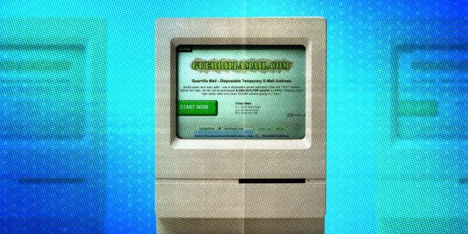 تطبيق Guerrilla Mail , رسائل إلكترونية مجهولة الهوية