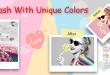 رش الألوان