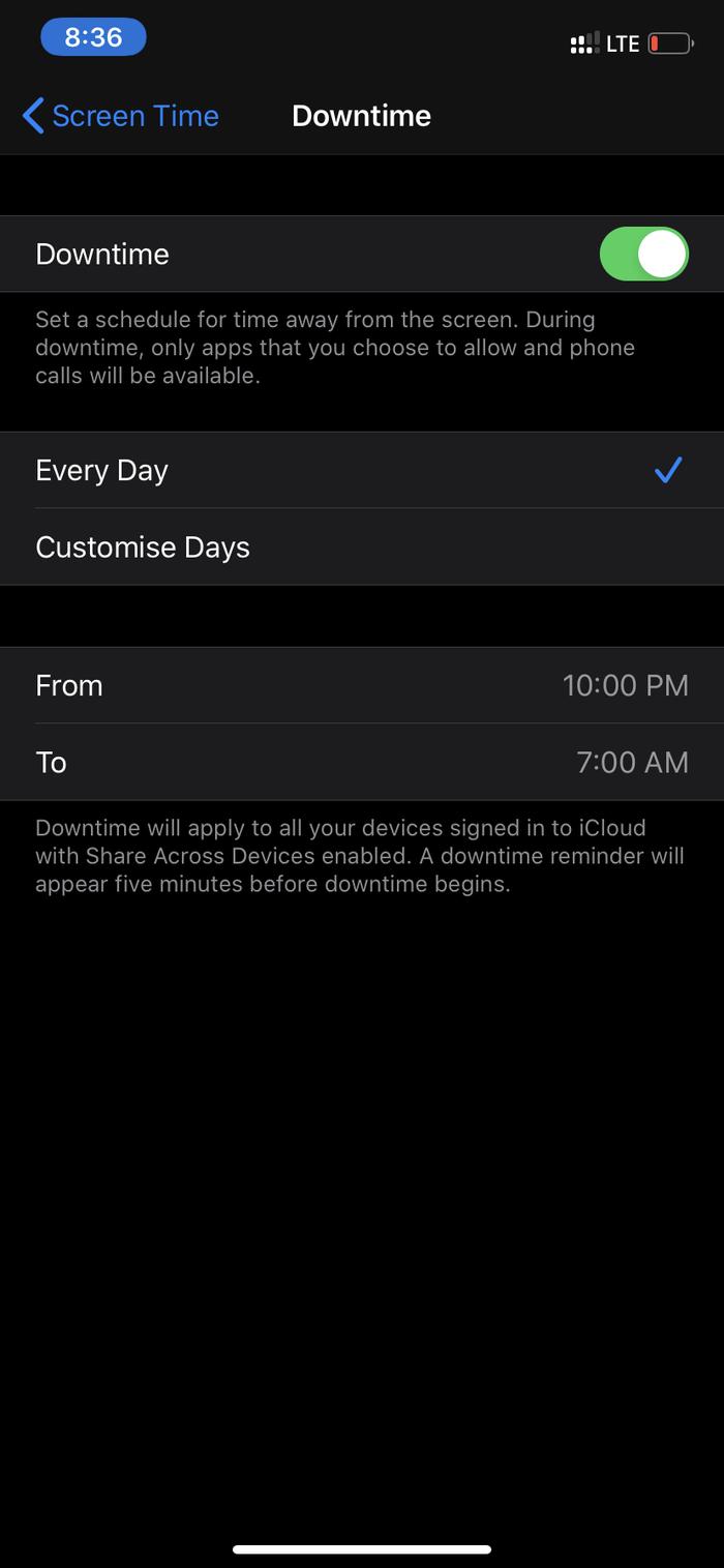 Screen time Passcode